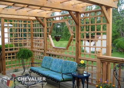 Pergola with Hexagon Window and Deck