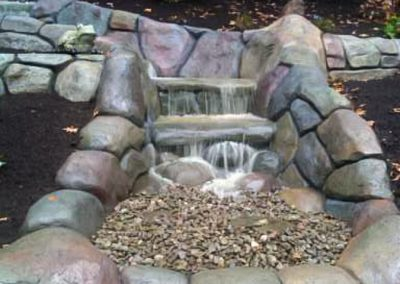 Carved and Colored Concrete Water Feature