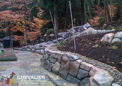 Custom Carved & Colored Concrete Wall & Water Feature