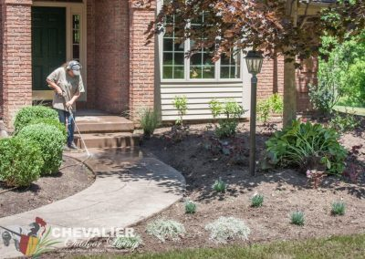 Cleaning Concrete Walkway