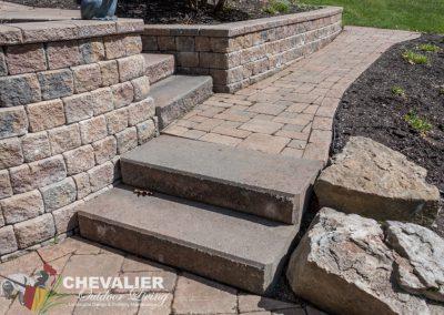 Before: Steps & Paver Walkway