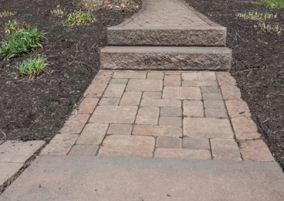 Before: Paver Walkway