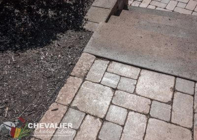 Before: Tilting Pavers