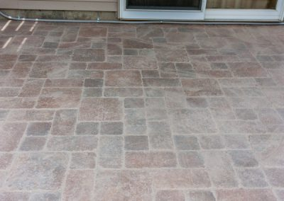 Clean Paver Patio Filled with Polysand