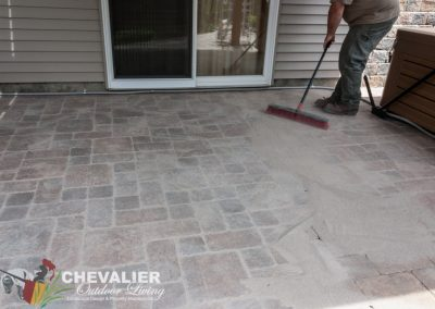 Filling Cleaned Paver Patio with Polysand
