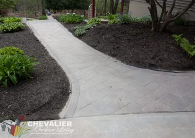 Cleaned & Straightened Paver Walkway Filled with Polysand