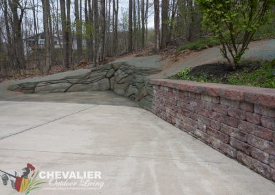 Cleaned Preexisting Driveway