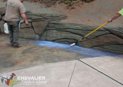 Sealing the Concrete