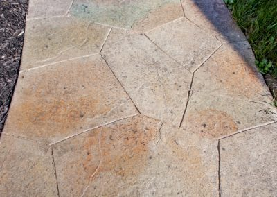 Stamped & Colored Concrete Sidewalk