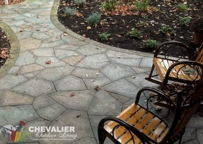 StoneMakers Stamped Carved & Colored Walkway