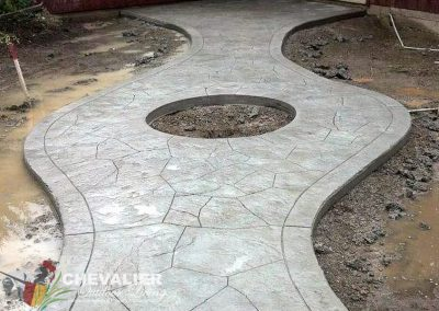 Stamped and Carved Concrete Walkway