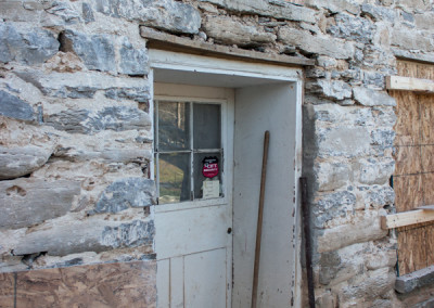 Historical Hull House Mortar After Stucco Removal