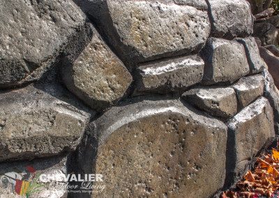 Carved and Colored Concrete Wall